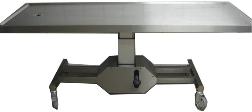 Table d'autopsie à hauteur variable plateau fixe - Inox 3016L