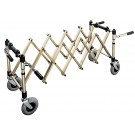 Extendable coffin trolley with rotating handle - Wheels D 200 mm