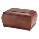Coffer urn in natural wood
